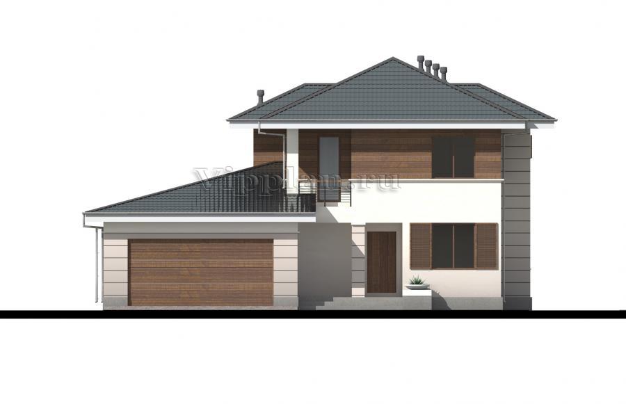 Проект двухэтажного дома с террасой и балконом фото
